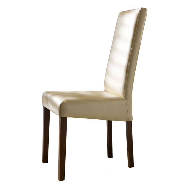 RECTA IVORY ECOLEATHER CHAIR